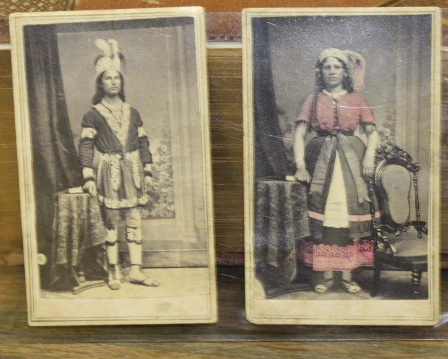 3: Pair of circa 1860 full length hc cdvs of Indian cou