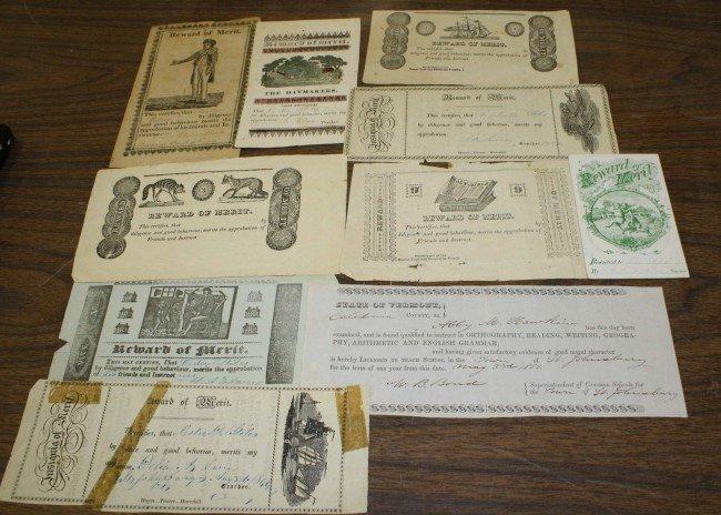 6: Ten early printed Rewards of Merit