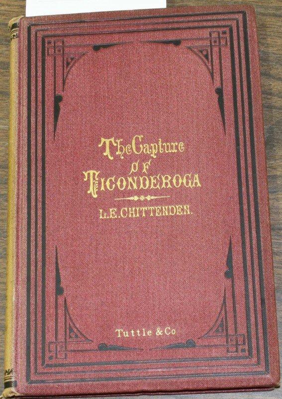 """11: 1872 """"Capture of Ticonderoga"""" by L.E. Chittenden"""