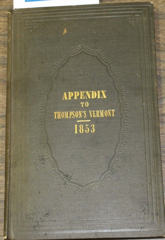 12: Appendix to Thompson's History of VT 1853