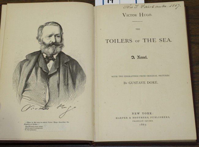 "14: 1867 ""Toilers of the Sea"" Victor Hugo illustrated b"