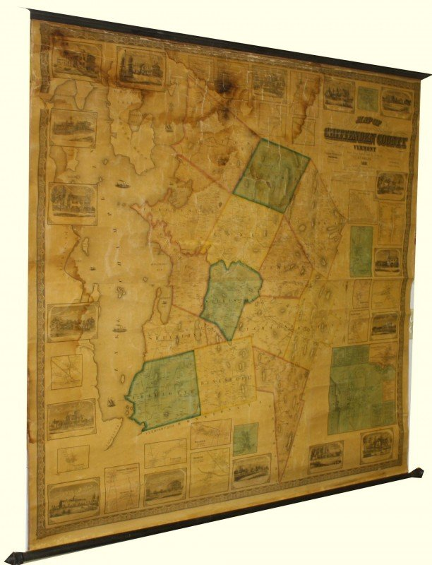 20: 1857 Walling Map of Chittenden County VT