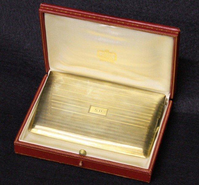 7: Cartier 14k gold cigarette case 4 troy oz