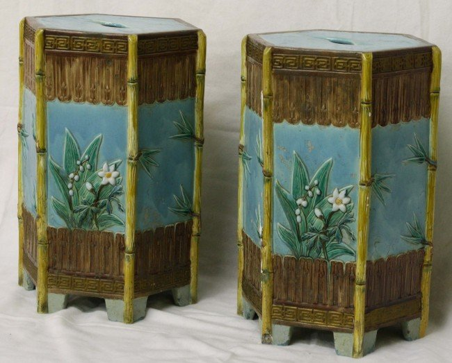 "24: important pair of 19"" English Oriental pattern majo"