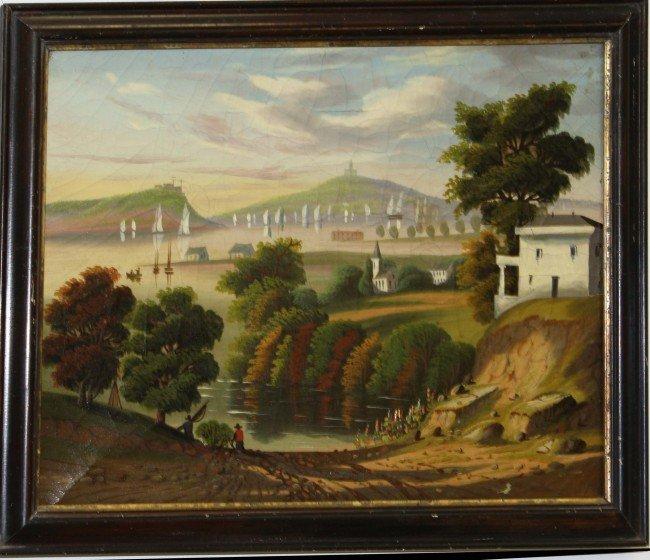 "32: 14x 18"" O/C Landscape by Thomas Chambers (AM 1808-6"