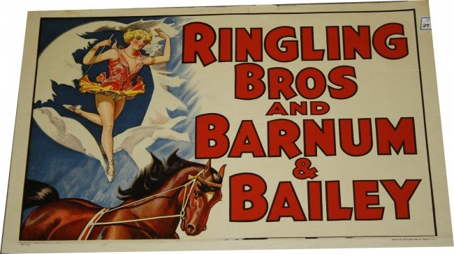 24: Ringling Bros and Barnum and Bailey Circus poster w