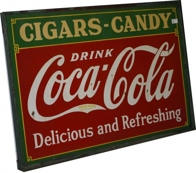 40: 42 x 60 inch Four color enamel double sided Coca Co
