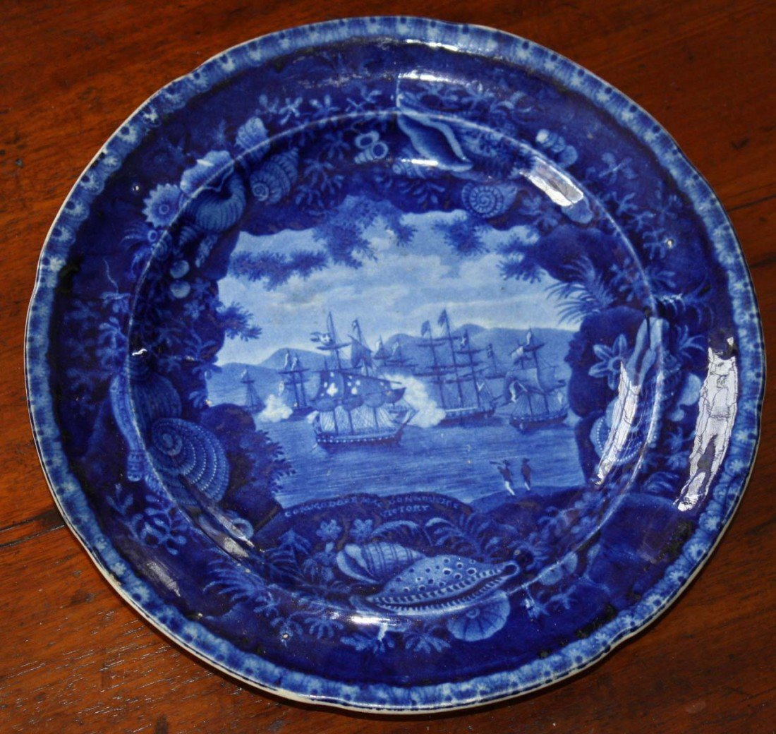 Historical Staffordshire MacDonnoughs Victory  plate