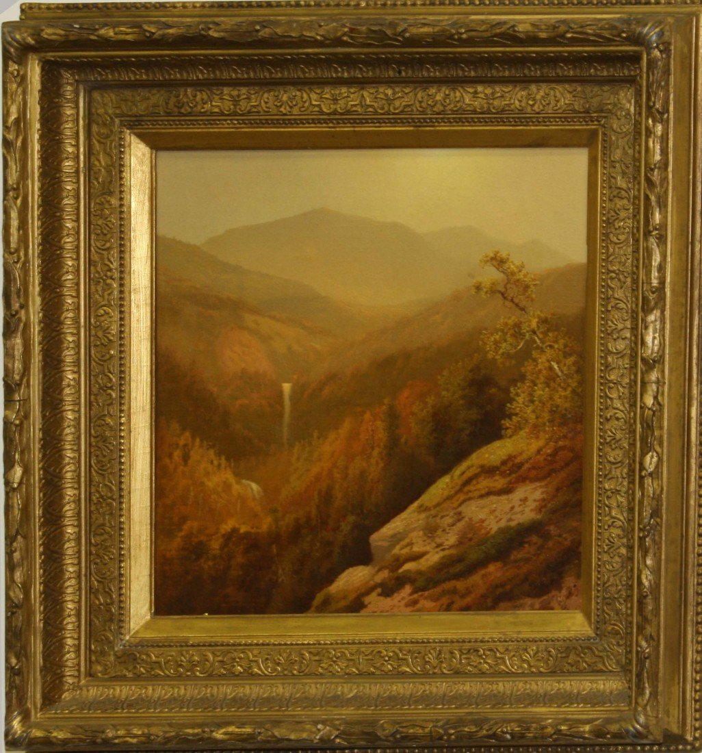 13x13 inch OC Haines Catskill Mountains 1874 signed Cha