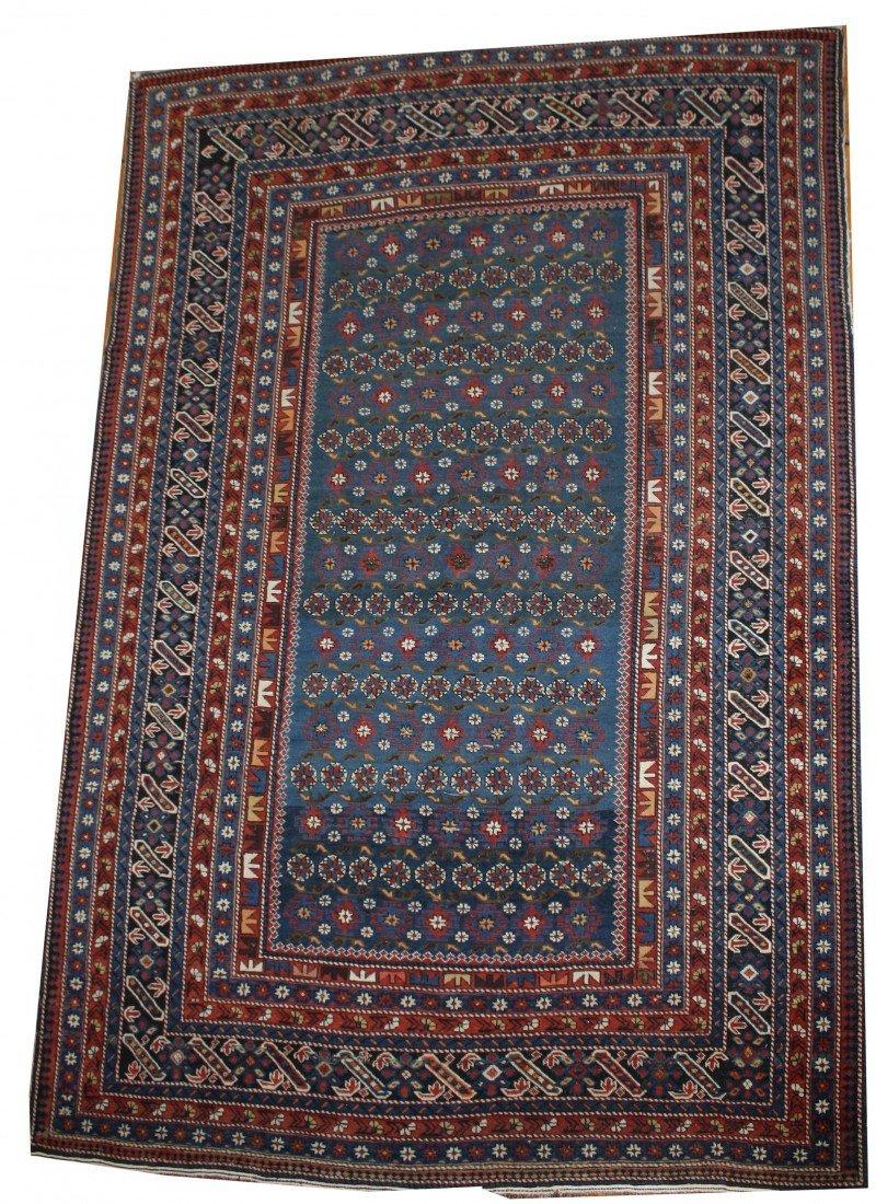 5 x 7 inch Shiraz area rug with 10 borders
