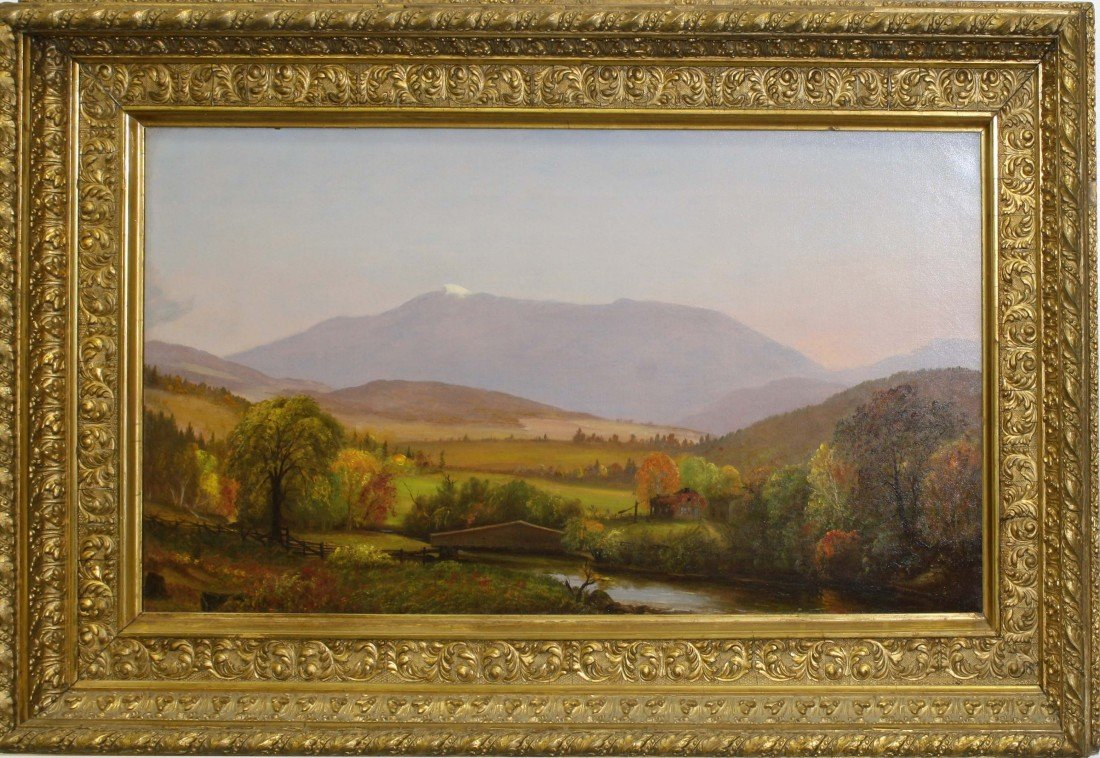 18x 34 inch OC Mount Mansfield in the Fall with period