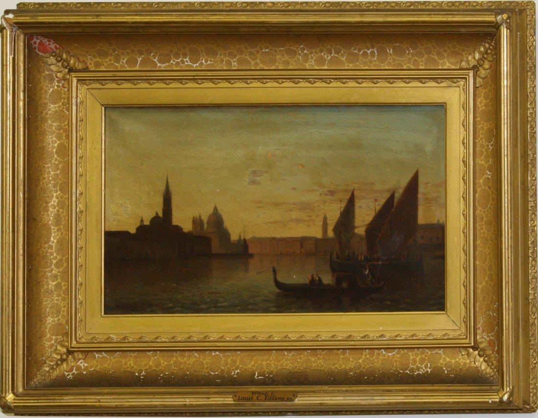 9 x 16 inch OC Venice signed Louis C Tiffany