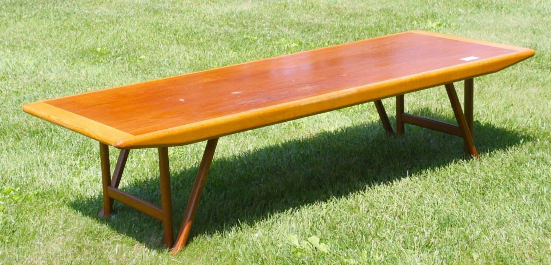 10: Einar Paknes Norway 1958 67 inch coffee Table