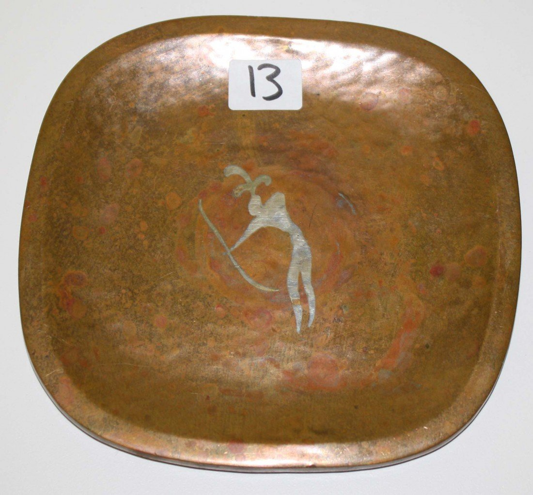 13: 6 in Los Castillo mixed metals plate with indian ar