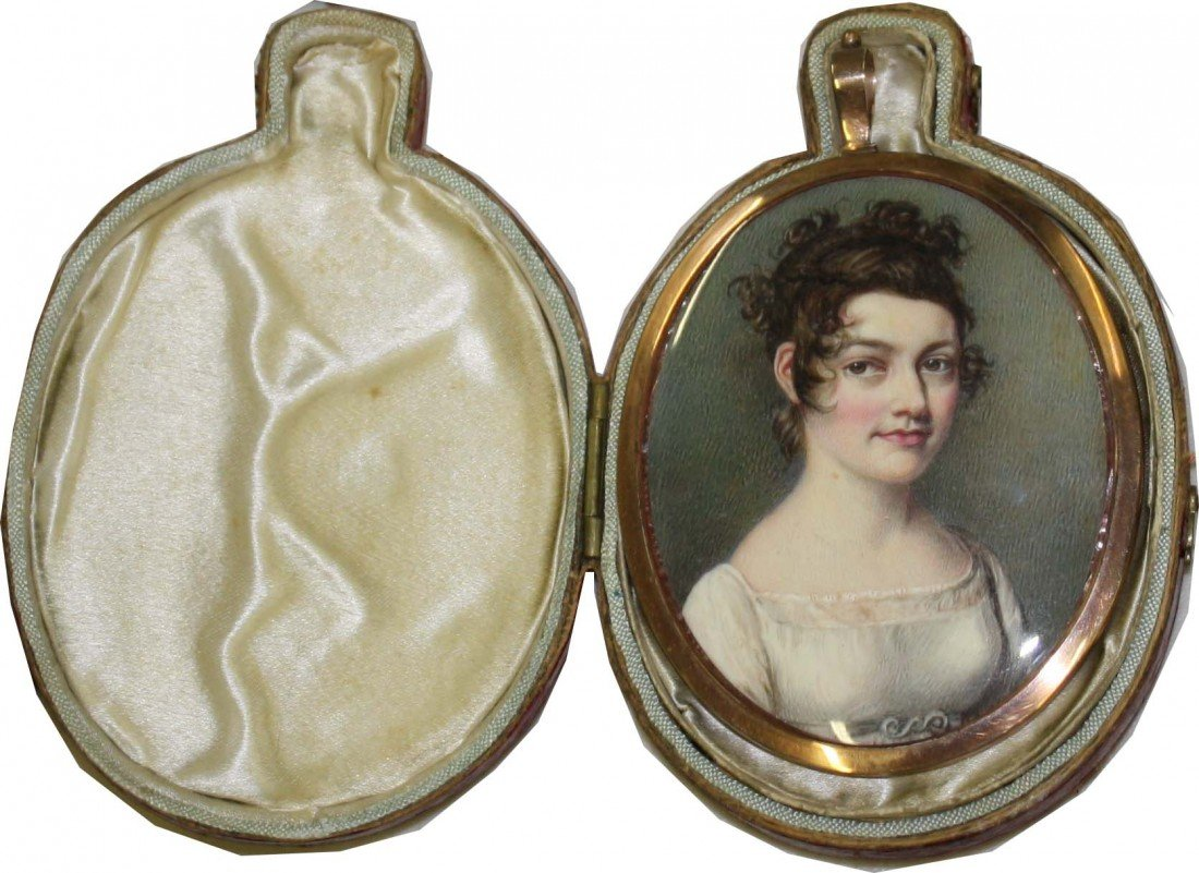 1: Outstanding miniature on ivory circa 1810 lovely you