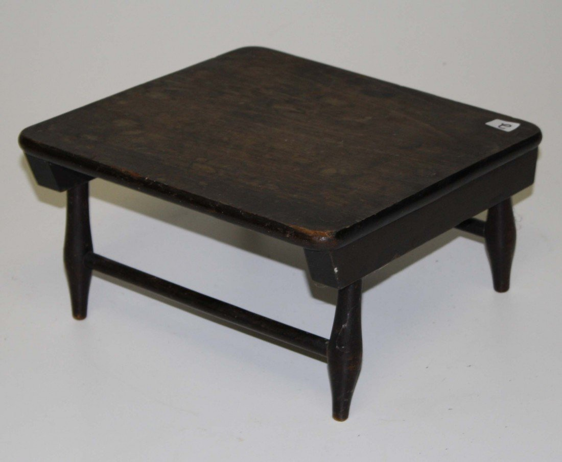 2: Mt Lebanon signed footstool in old finish