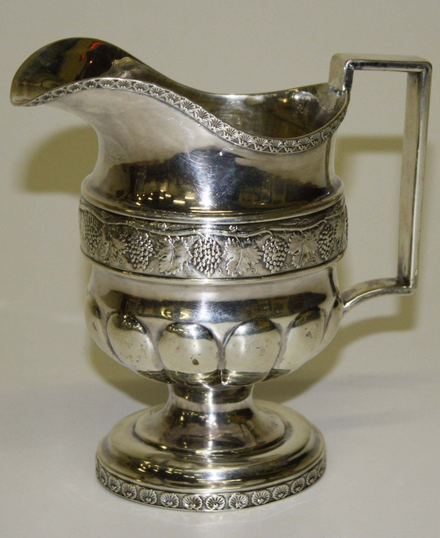 4: Peter Chitry-NY silver footed creamer ca 1804 aprox