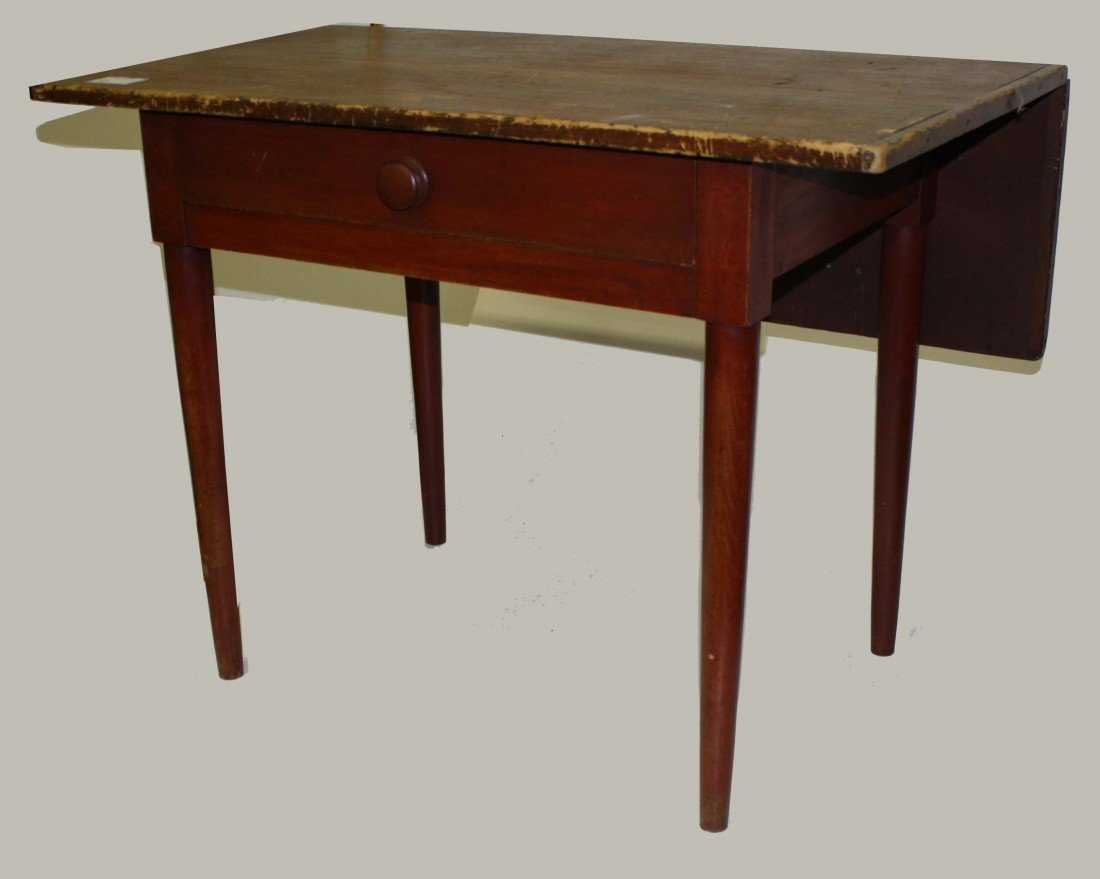 10: Shaker one drawer sewing table w/ single drop leaf