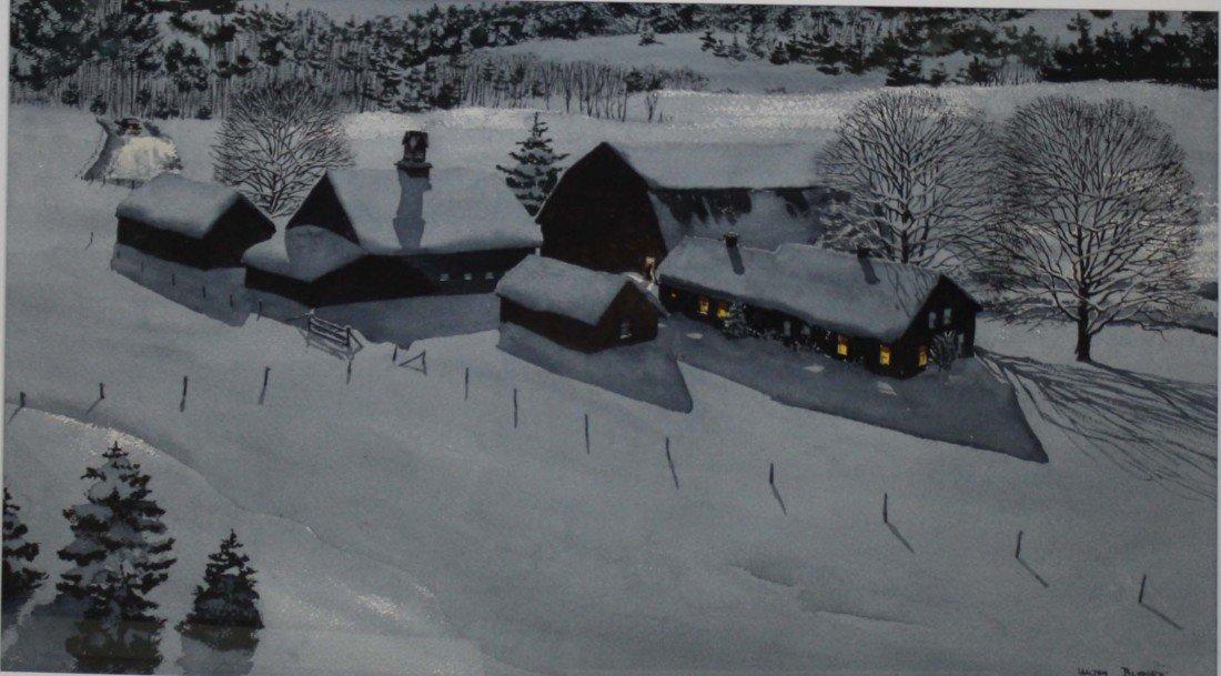 11: Walton Blodgett signed w/c Barn in Winter Moscow VT