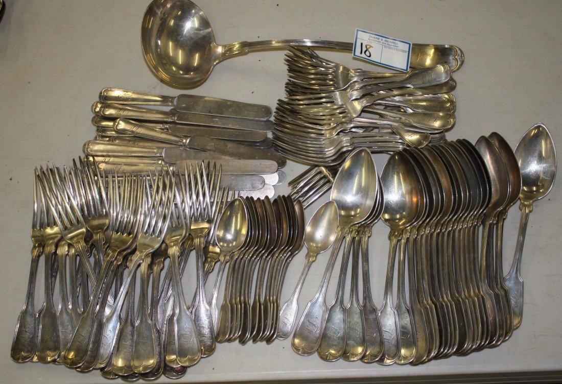18: Wm Gale & Son- NY 107 pc flatware set including 14
