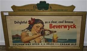 Circa 1950 Berverwyck Beer  Golden Dry Beer and Irish