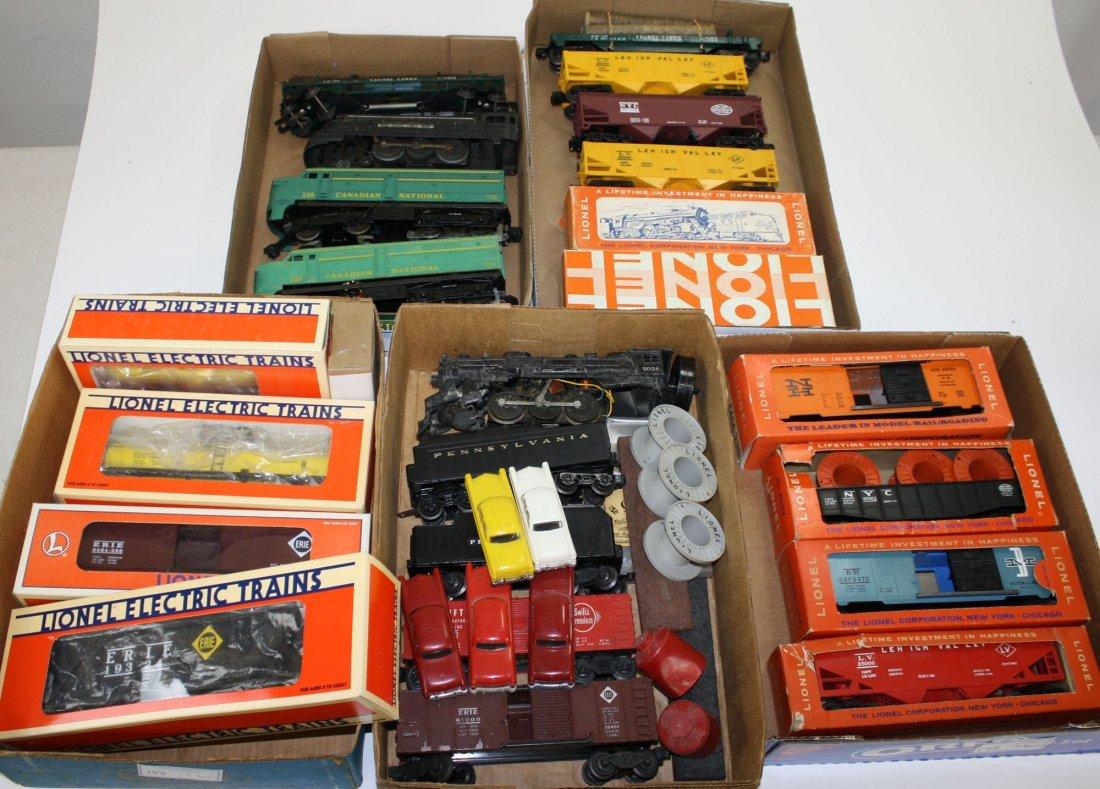 Lionel O Gauge train engines & cars- 24 pcs plus some