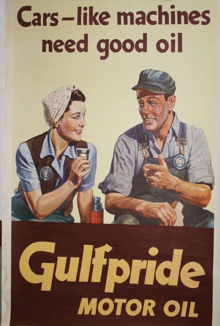 "Gulf Pride WWII Propaganda poster ""Cars, Like Machines"