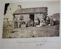 Cabinet photo album circa 1870-80, England and France