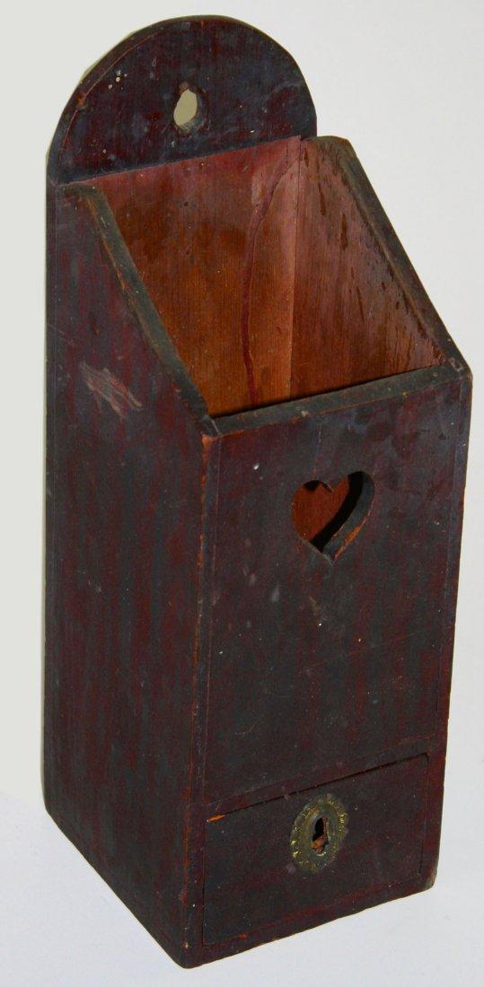 outstanding Kentucky pipe box w/ heart shaped cutout &