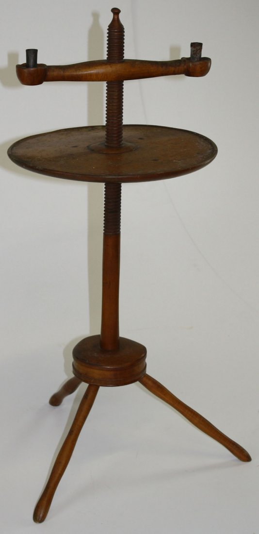 Pleasant Hill, KY Shaker maple adj. candle stand,