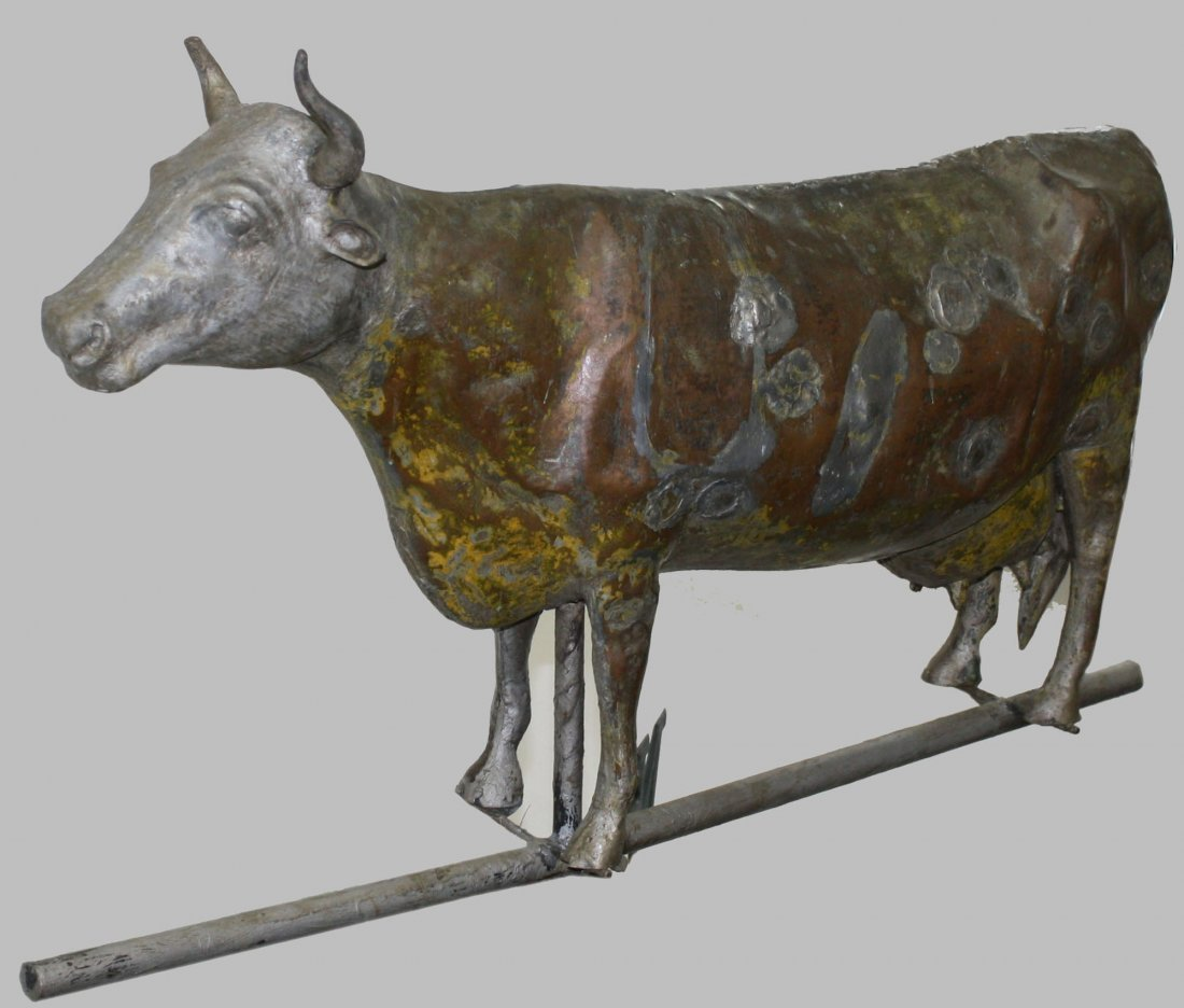 full body copper cow weathervane originally from the