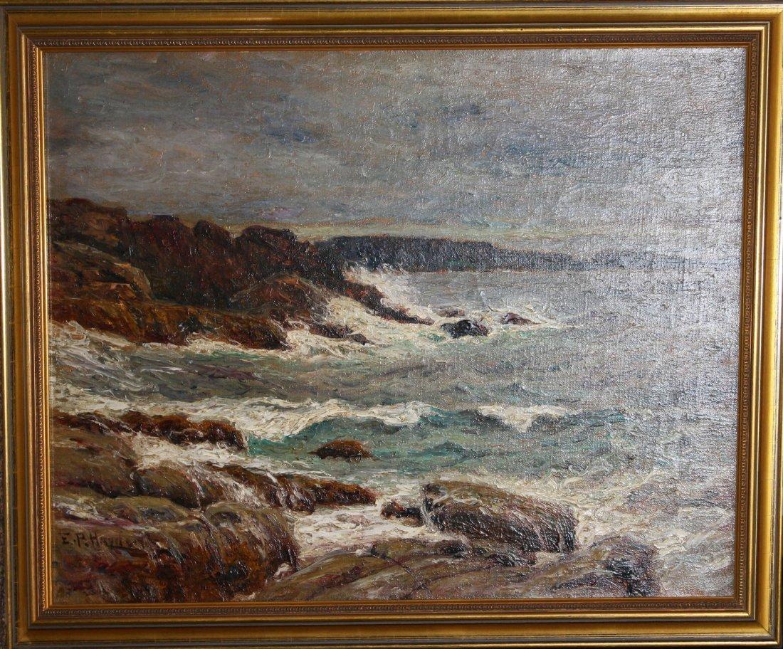 Edward Parker Hayden (Am 1858-1922) Coastal scene 18 x