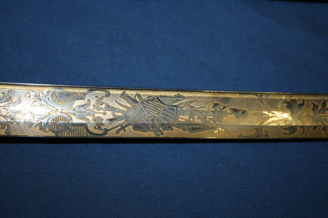 Tiffany & Co engraved presentation sword presented to - 5