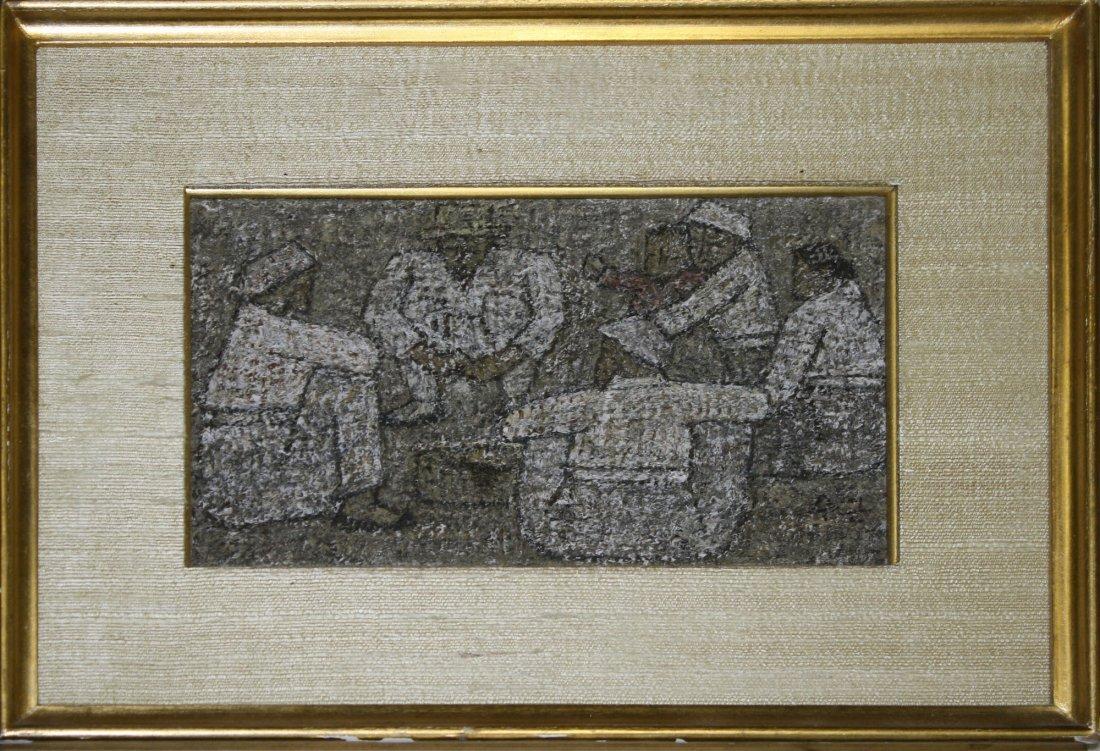 Park Soo-Keun (Korean 1914-1965) Six seated figures and