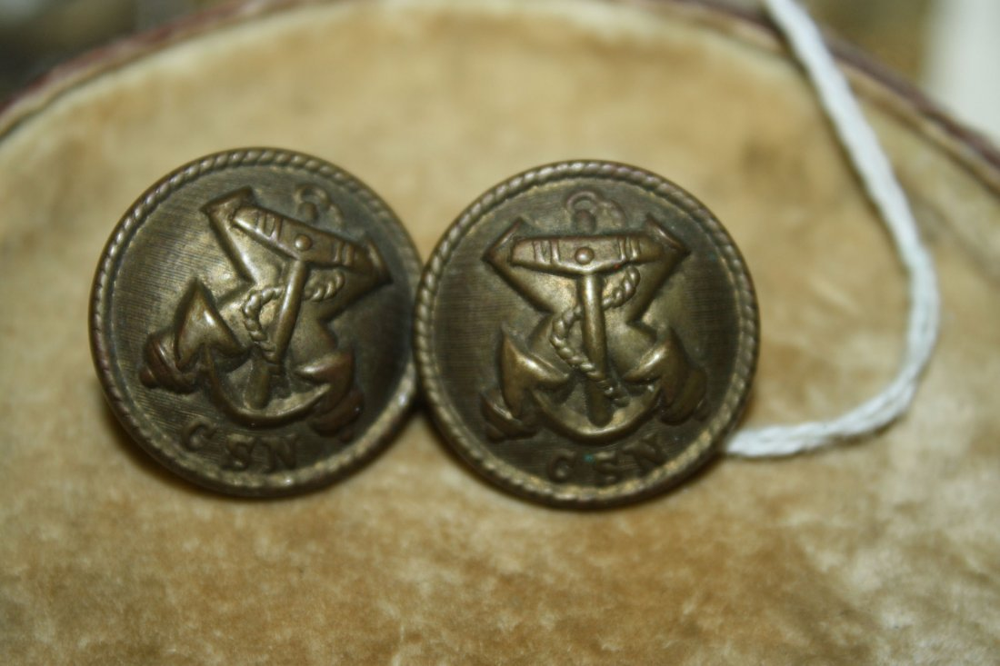 pair of Confederate States of America Navy Firmin &