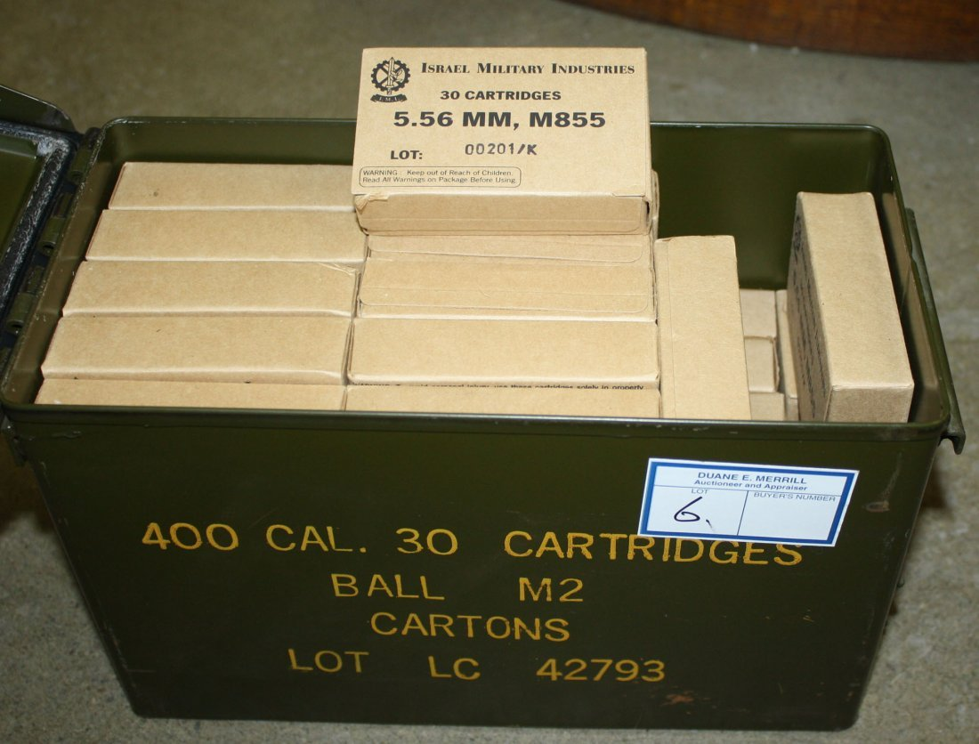 1050 rounds of Israel Military Industry military grade