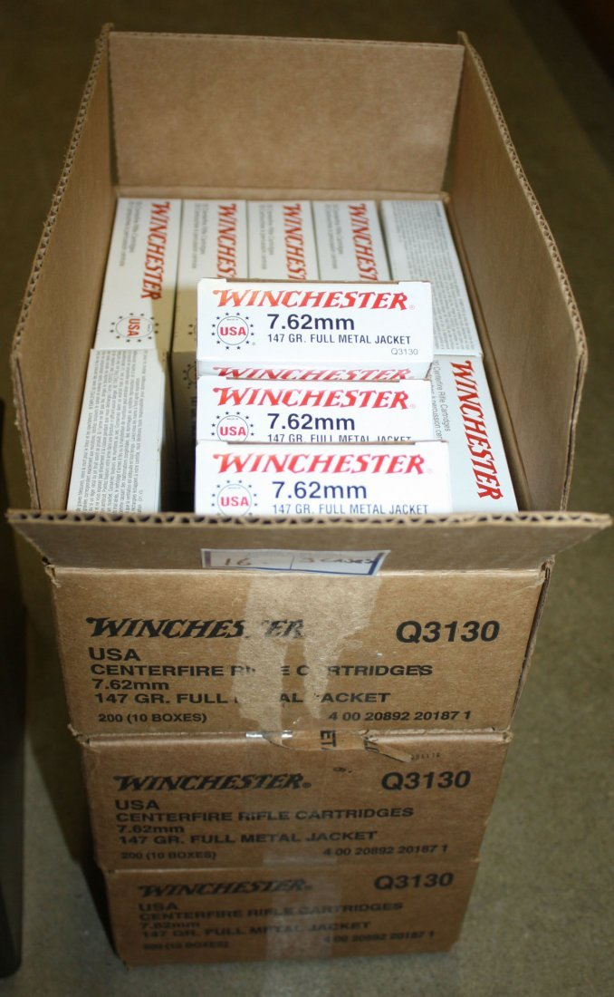 600 rounds of Winchester 7.62 X51mm Nato 147gr. Full