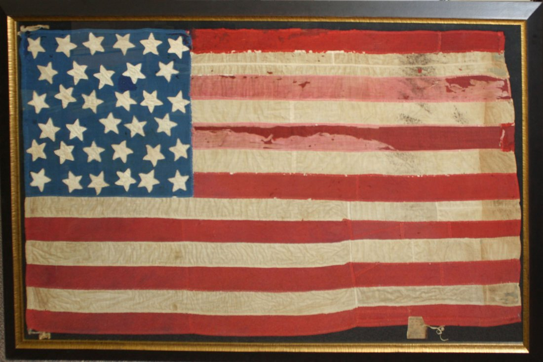 US 34 star mourning flag (1861-1863) with Botsford