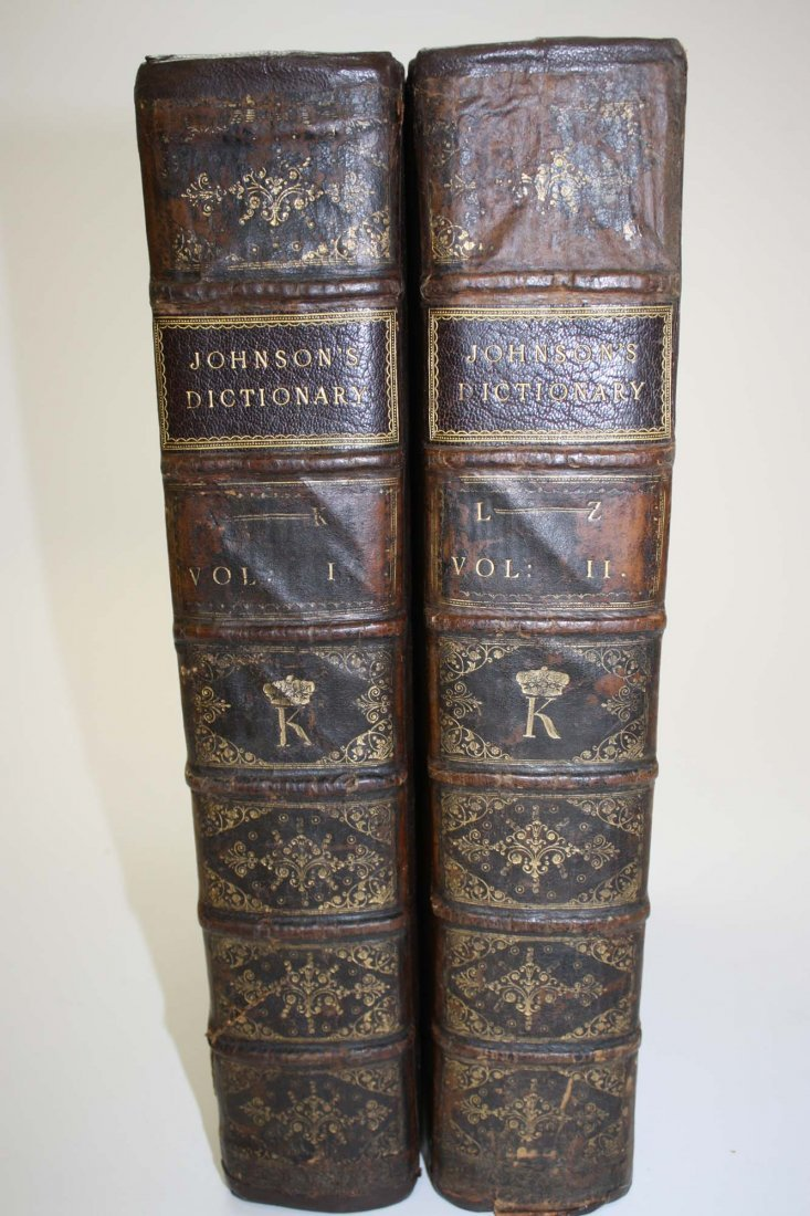 Dr. Samuel Johnsons' – A Dictionary of the English