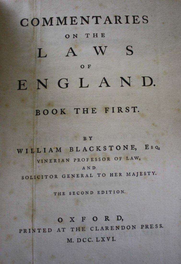 William Blackstone Esq.-Blackstone's Commentary on the - 2