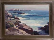 "Emile Gruppe (AM 1896-1978) Bass Rocks o/c 20 x 24"""