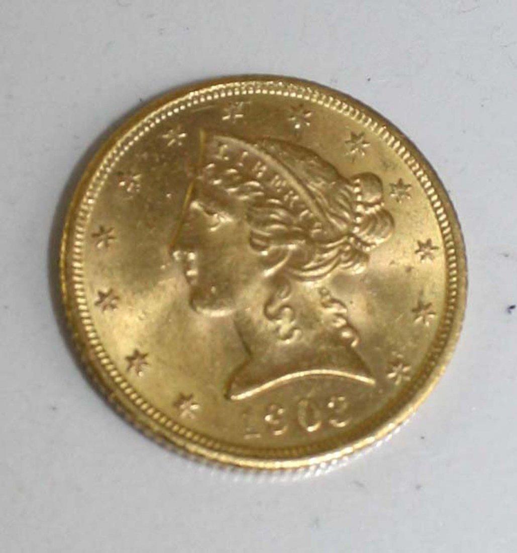 1903-S US $5 gold half eagle
