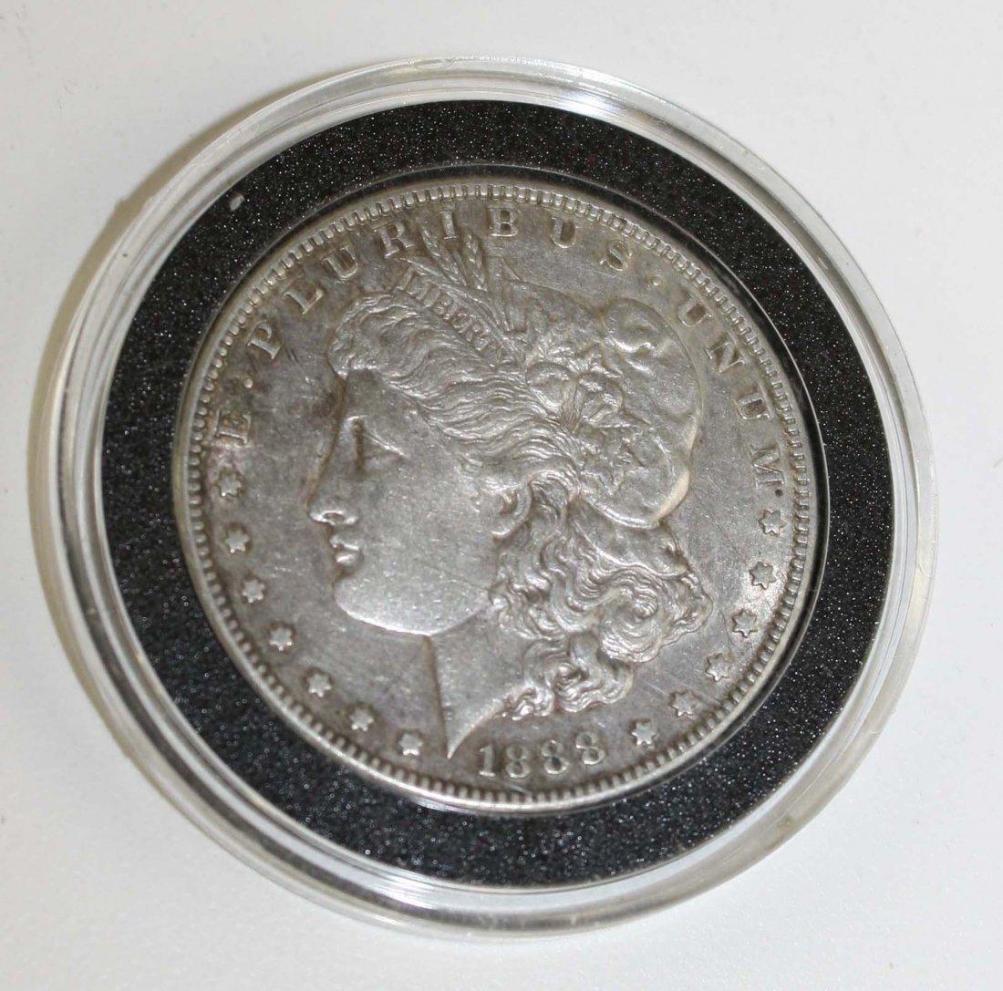 1888-S US Morgan silver dollar