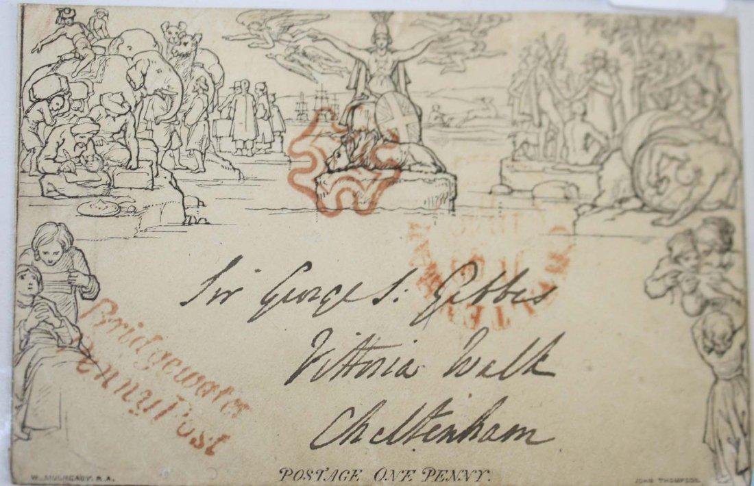 Rare & interesting 1840 Mulready Stationary British
