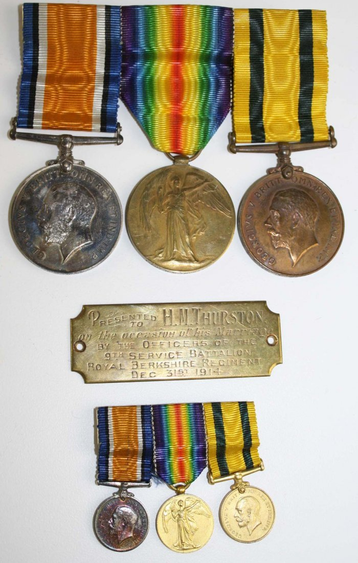 Great Britain WWI set of 3 service medals inscribed