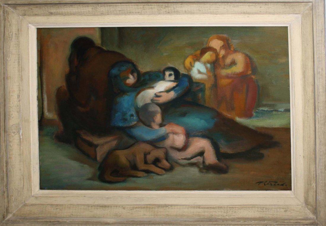 Theodore Fried (Hungary/NY 1902-1980) Family with dog