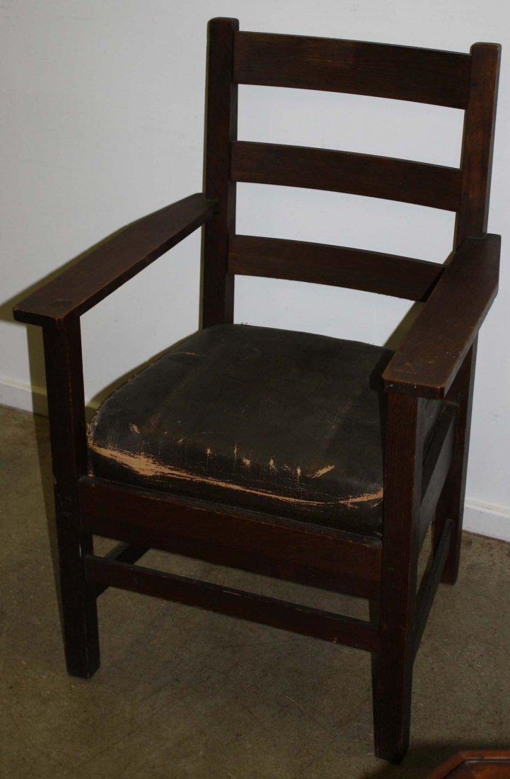Lifetime & Paine Furniture labeled Mission oak arm
