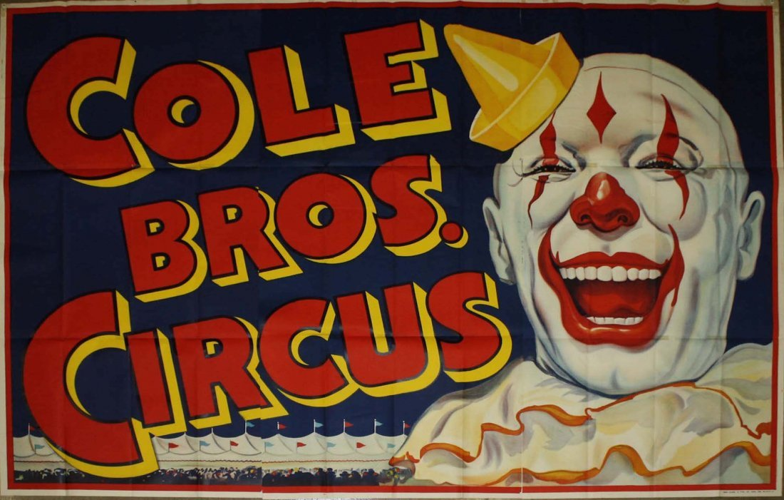 Cole Bros Circus / Clown. Erie Litho & Printing Co,