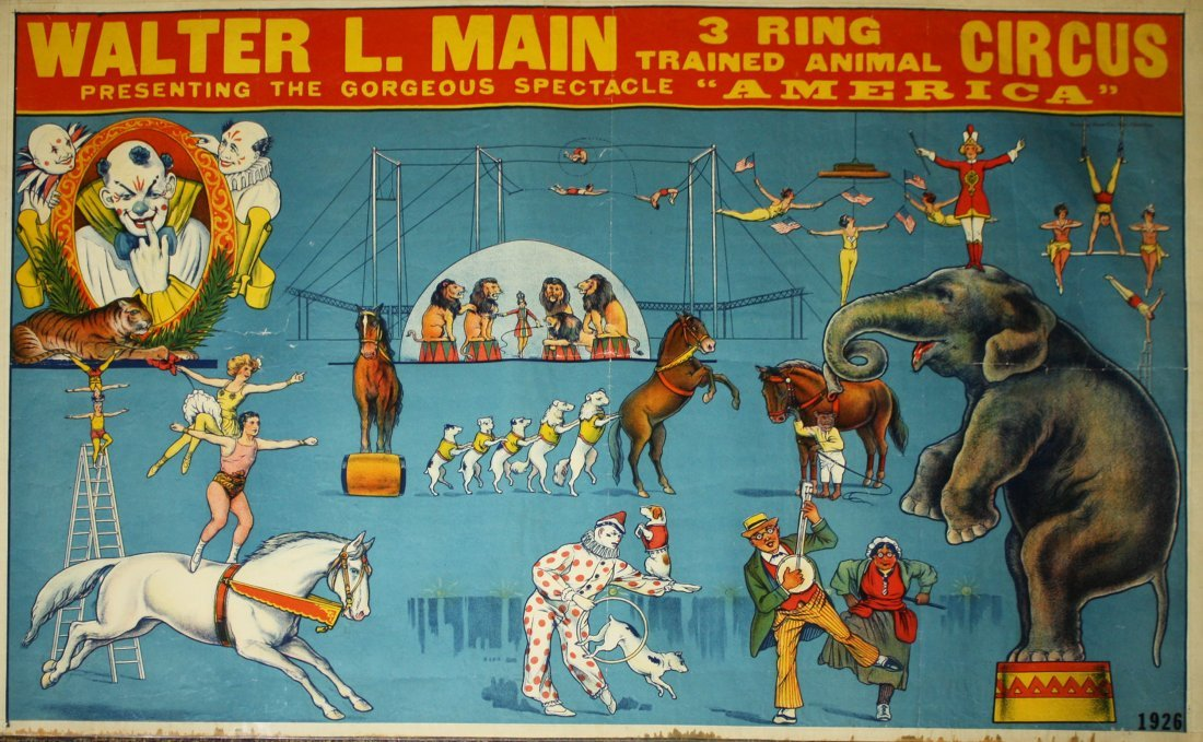Walter L. Main 3 Ring Trained Animal Circus / The