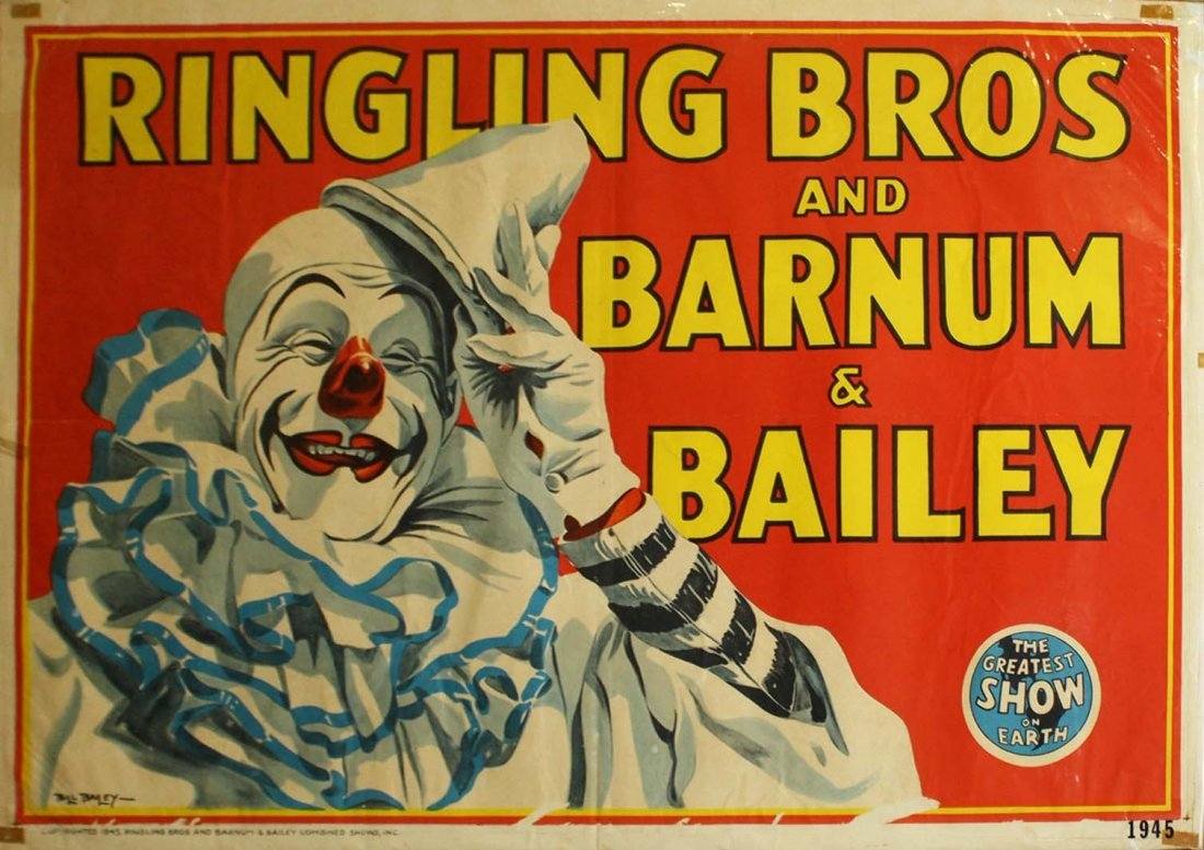 Ringling Bros. and Barnum & Bailey / Clown tipping hat.